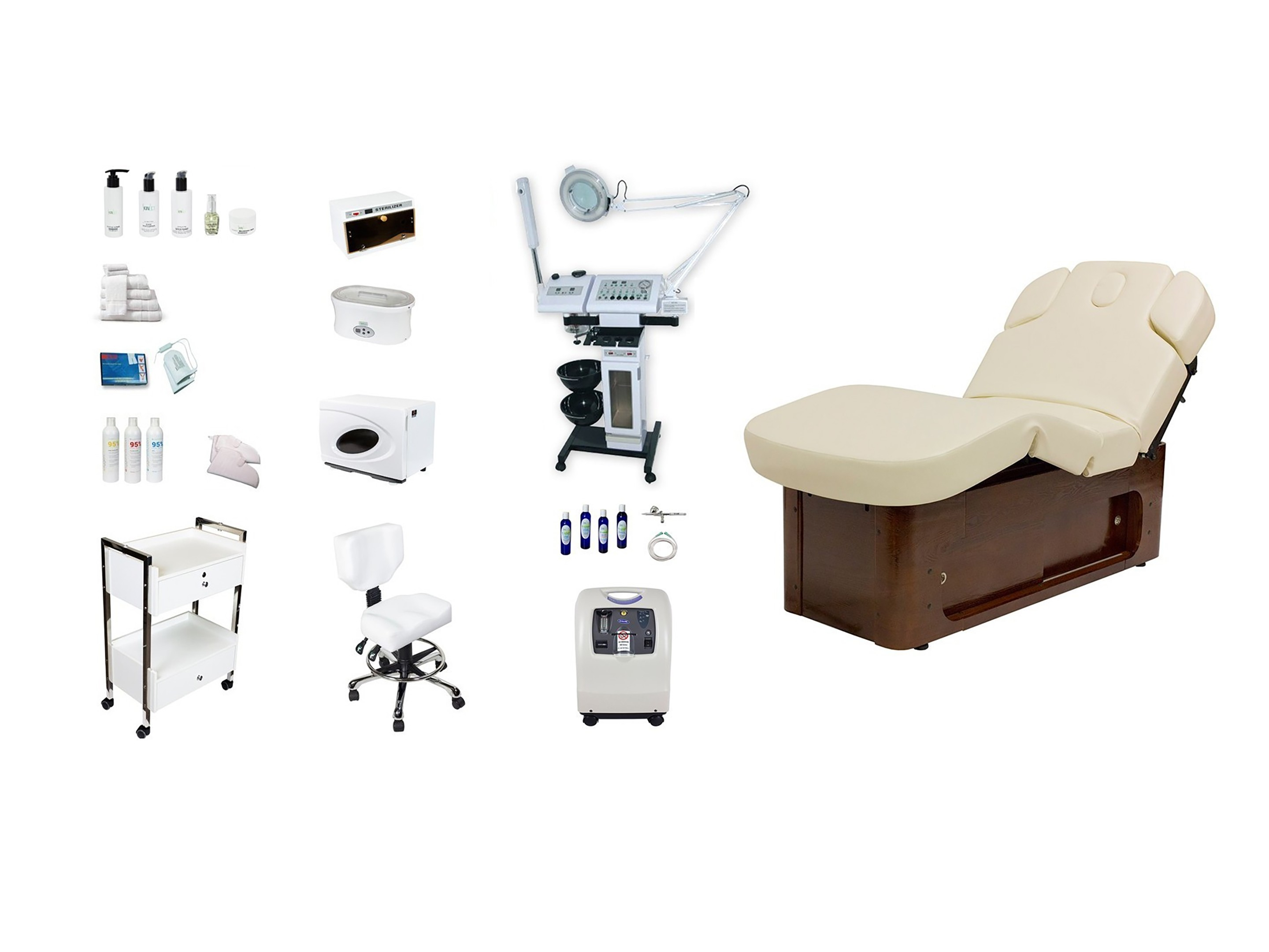 spa, facial, aesthetic, esthetic, esthetician equipment packages