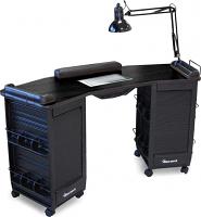 dina meri manicure table with vent. Black Bedroom Furniture Sets. Home Design Ideas
