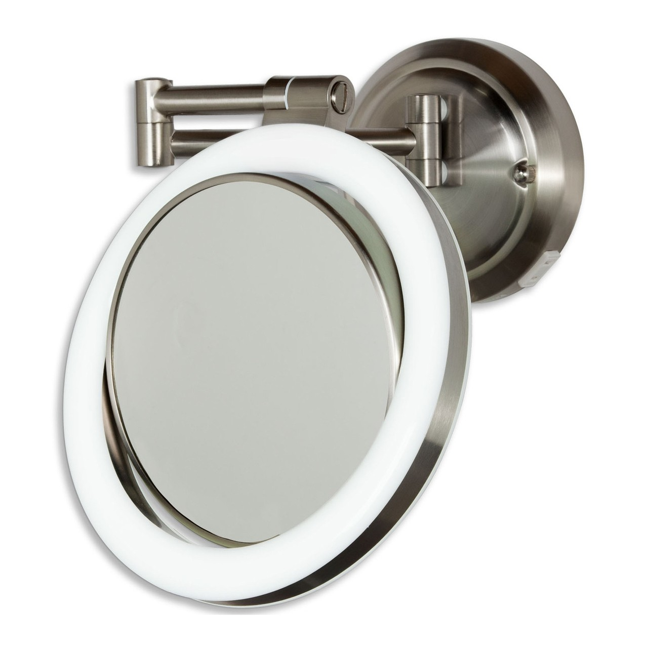 Zadro dual sided surround light swivel wall mount mirror 1x10x amipublicfo Choice Image