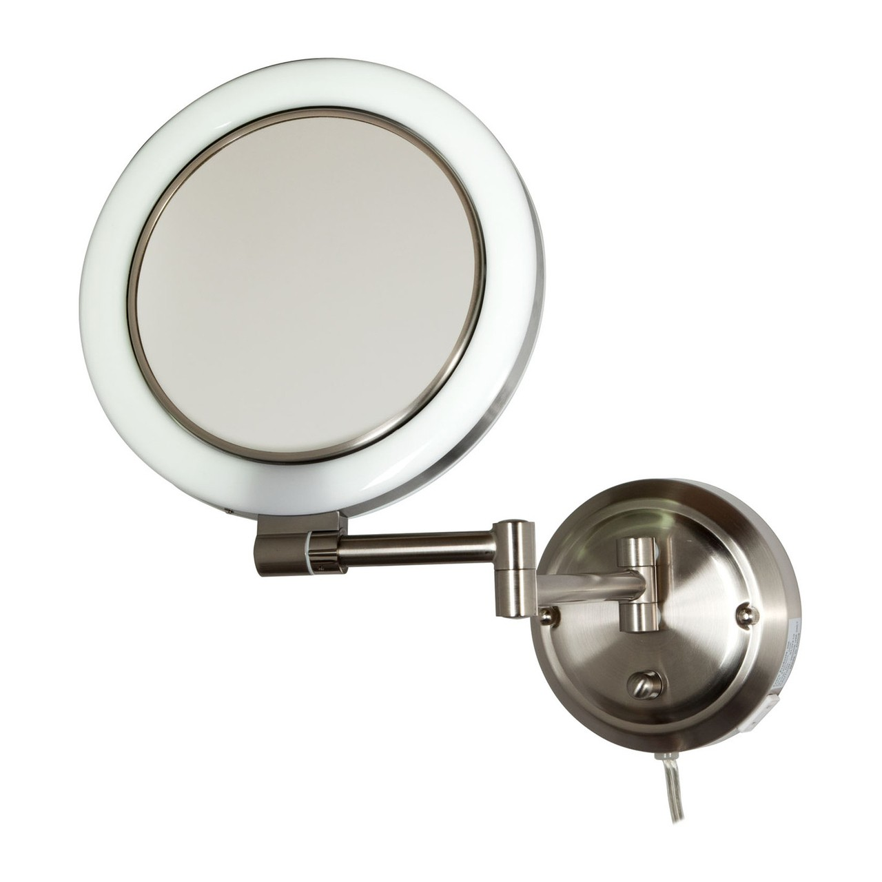 Wall Mounted Swivel Lamps : Zadro Dual-Sided Surround Light Swivel Wall Mount Mirror 1X/10X