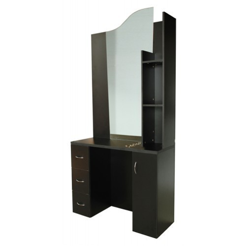 Santino styling station black for Modern salon stations