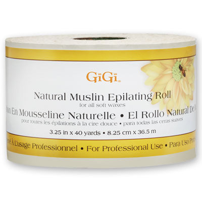 "GiGi Natural Muslin Roll 40 Yards and 3.25"" Wide"