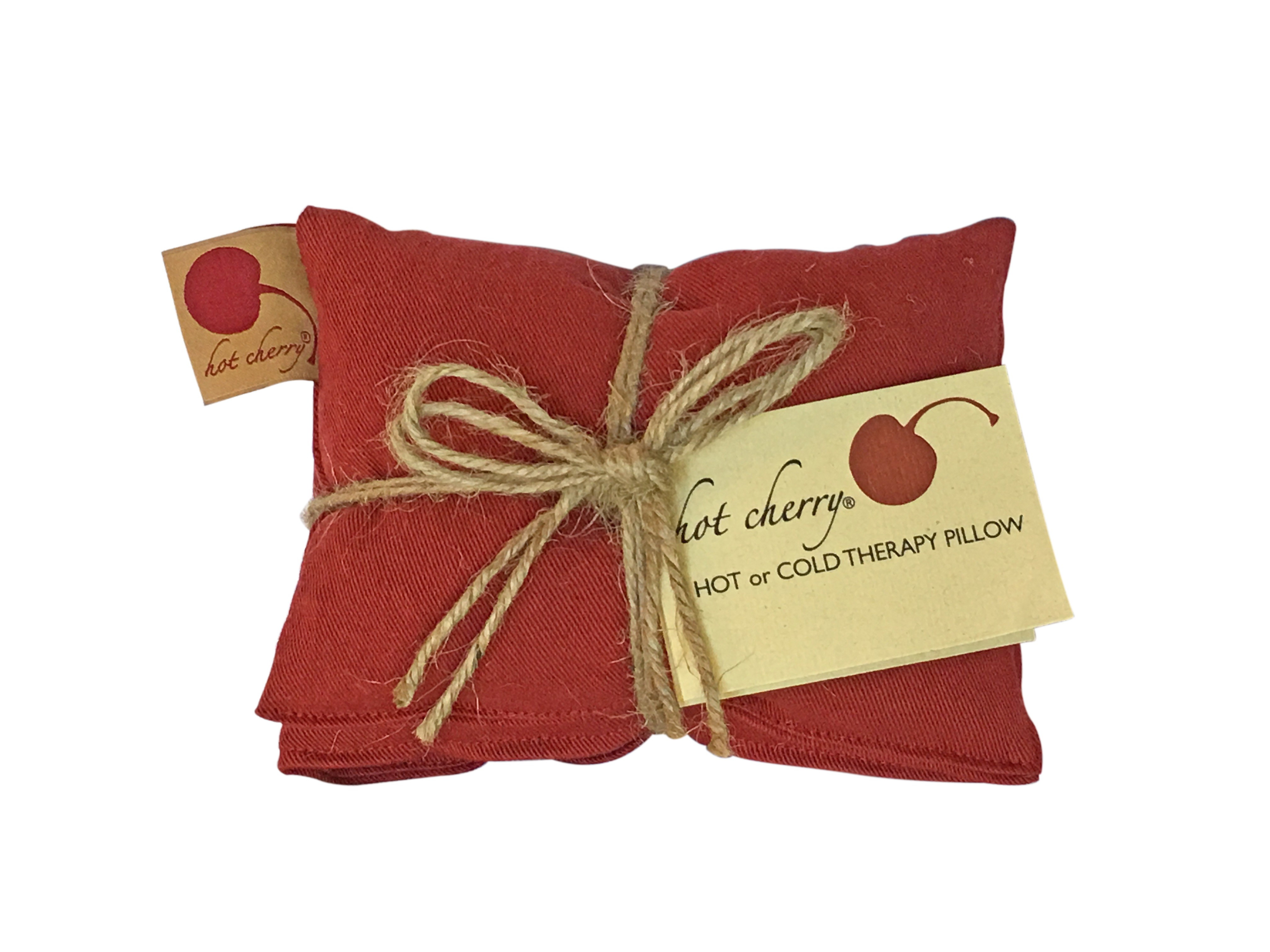 Hot Cherry 5D Red Denim Neck Therapeutic Pillow
