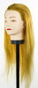"SkinAct Cosmetology Mannequin Head 20"" - 24"" Synthetic Hair (Golden Brown, Black)"