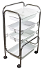 4 Level Plastic Spa Salon Trolley Cart