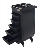 Nova Salon Cart Plastic 5-Drawer Workstation on Wheels