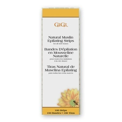 GiGi Small Natural Muslin Epilating Strips 100 Pack