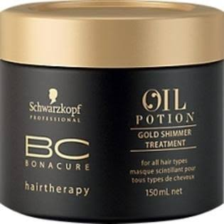 Schwarzkopf BC Oil Potion Gold Shimmer Treatment 5.1 fl oz