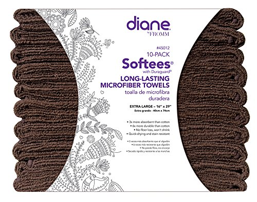 Diane Softees Towels with Duraguard Gray 10pk