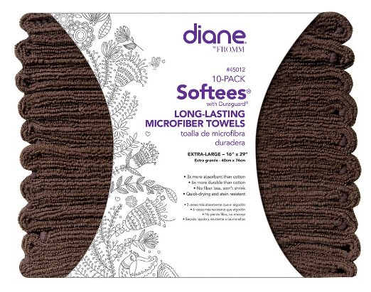 Diane Softees Towels with Duraguard Chocolate 10pk