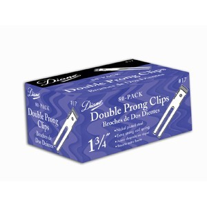 Diane Double Prong Clips 80pk