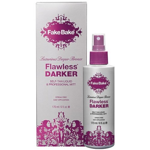Fake Bake Flawless Darker Self Tan Liquid & Professional Mitt