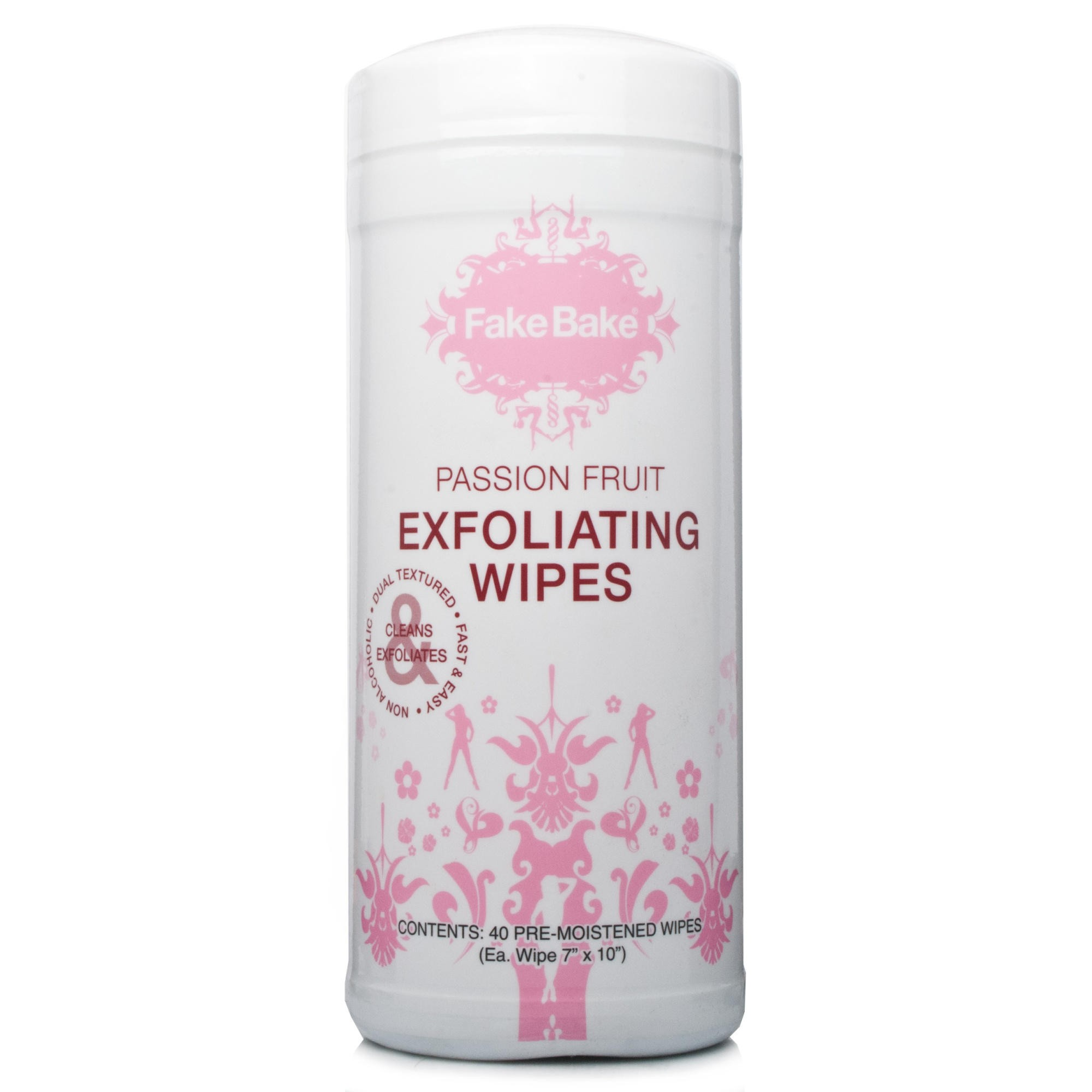 Fake Bake Passion Fruit Exfoliating Wipes