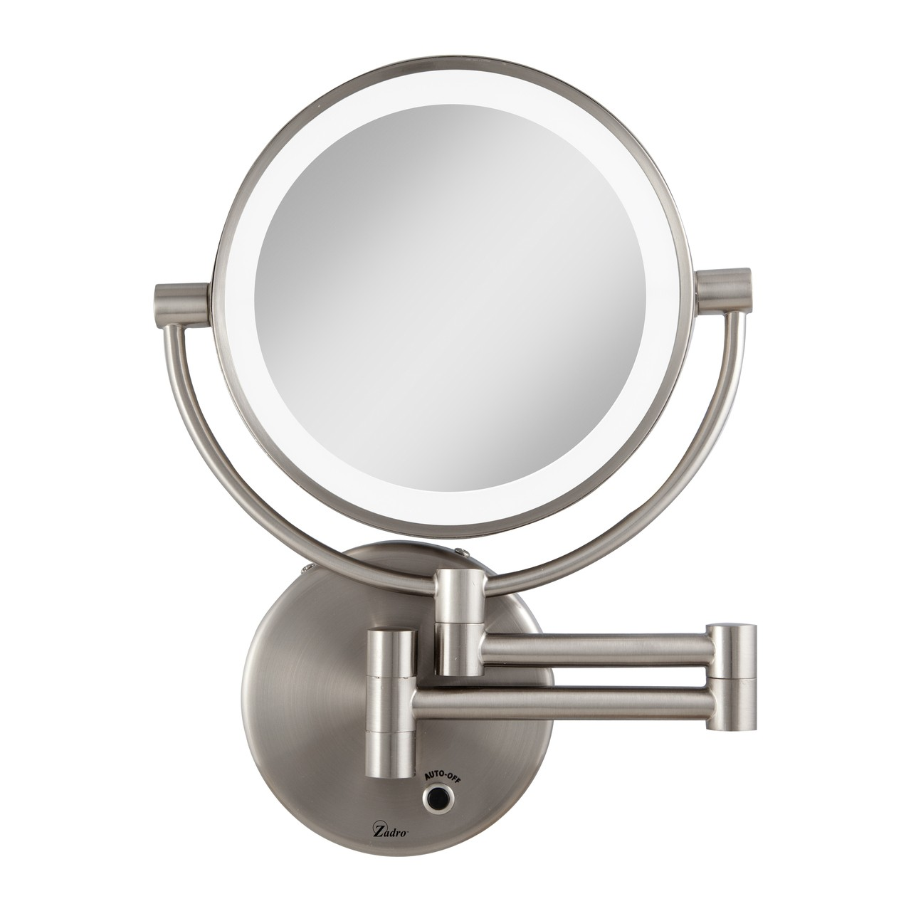 Zadro Cordless LED Lighted Wall Mount Mirror 1X/5X
