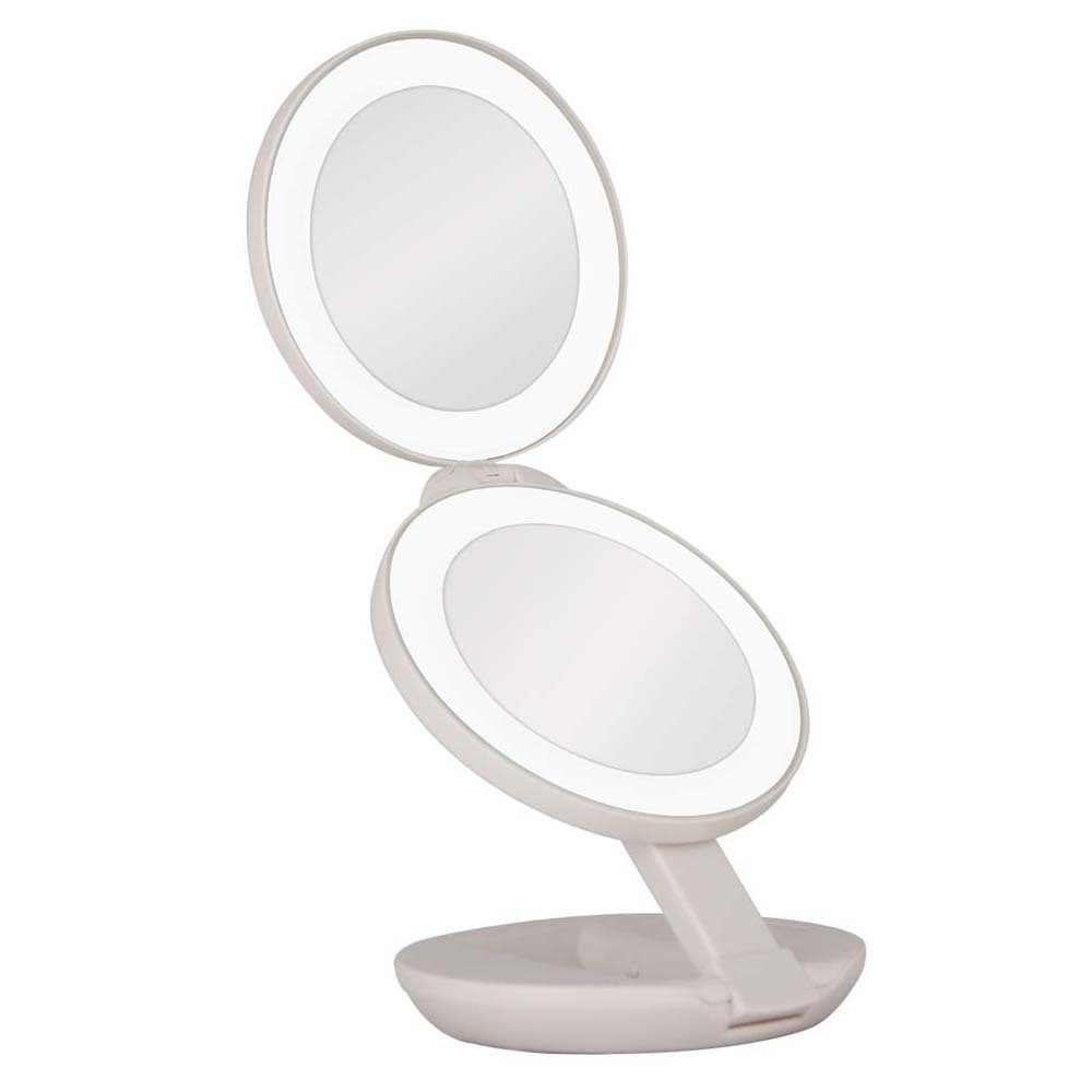 Zadro Dual LED Lighted Travel Mirror 1X/10X