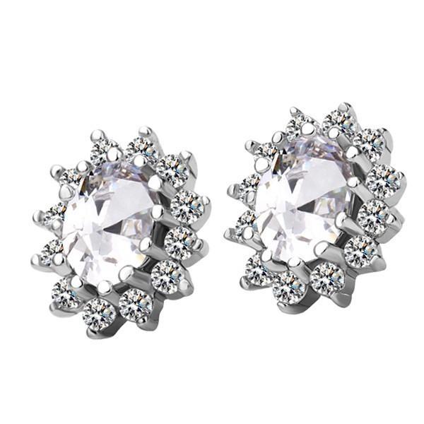 Classic Luxury Clear Crystal Earrings