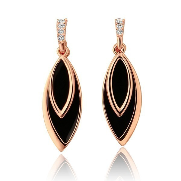 Classic Black And Gold Drop Earrings