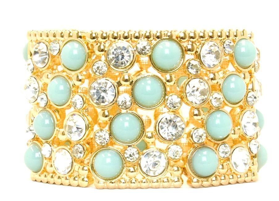 Four Strands Sumptuous Stones Bracelet