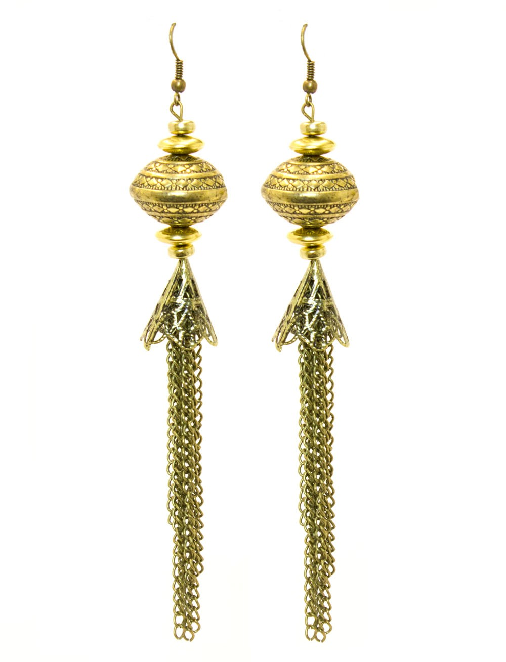 Bohemian Gold Dangle Earrings