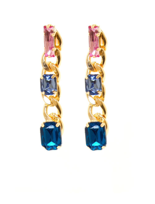 Colorful Stones Dangle Earrings