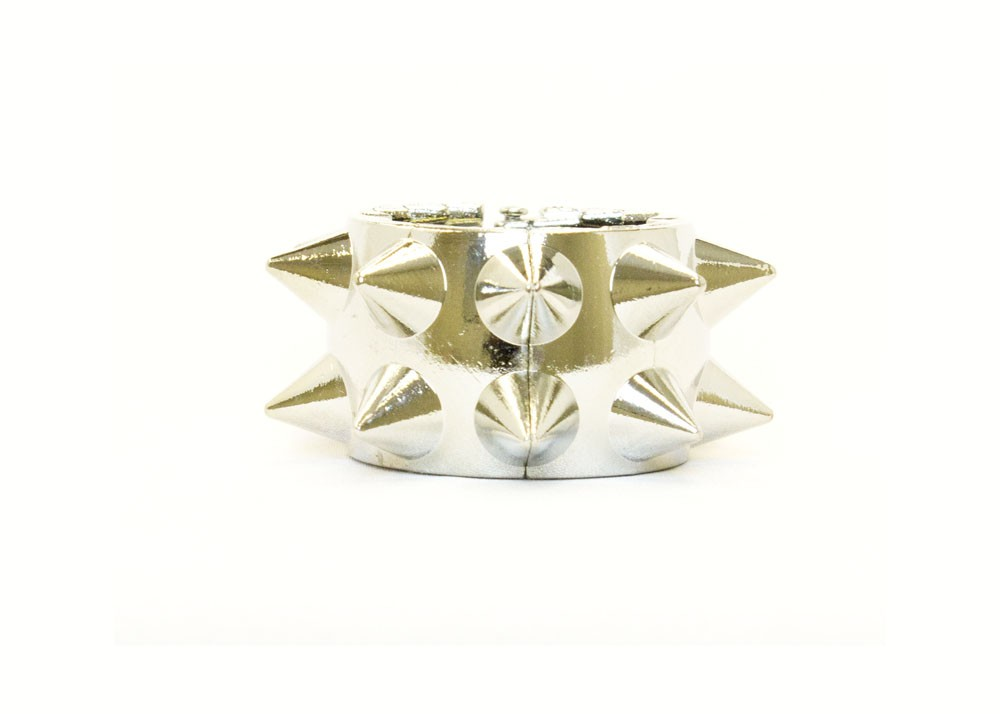 Silver Spike Hair Band Ring