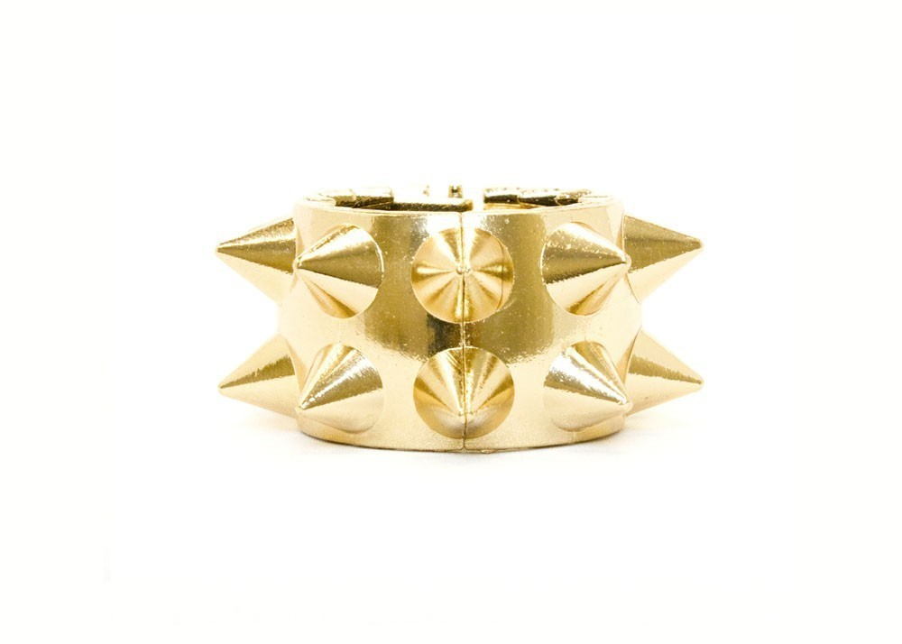 Gold Spike Hair Band Ring
