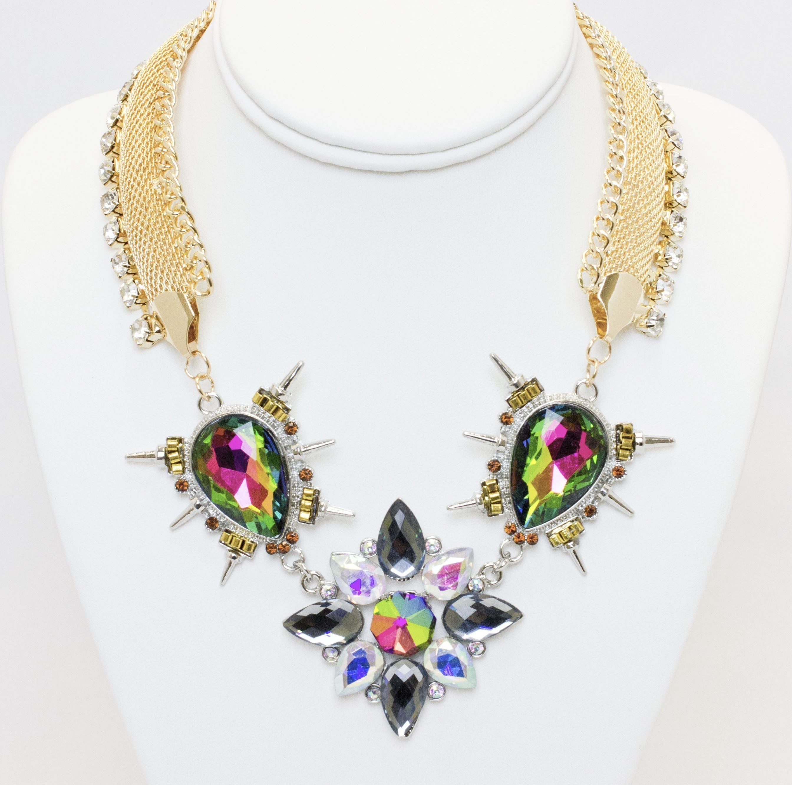 Stone Collar Statement Necklace