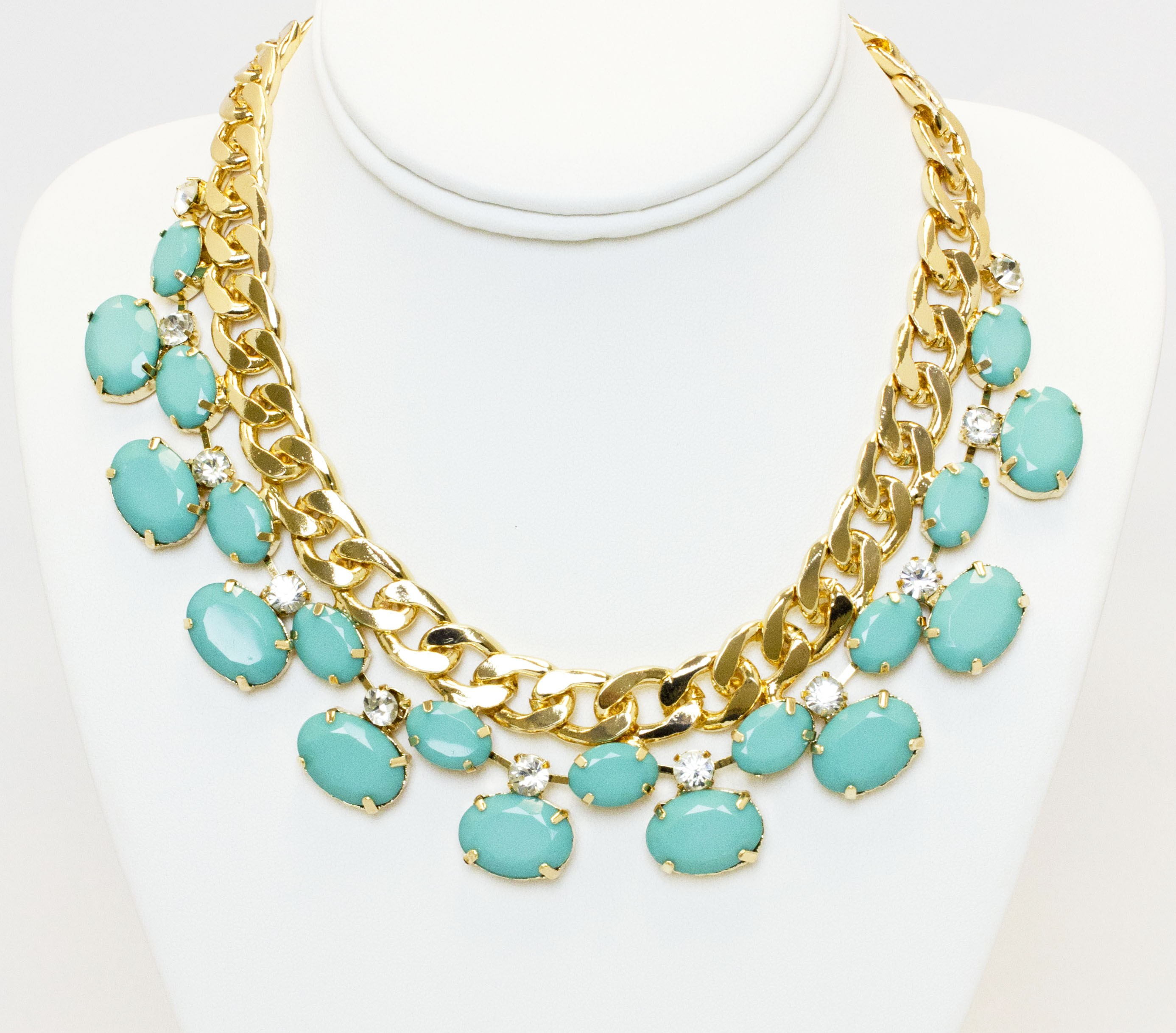 Triple Layers Statment Necklace