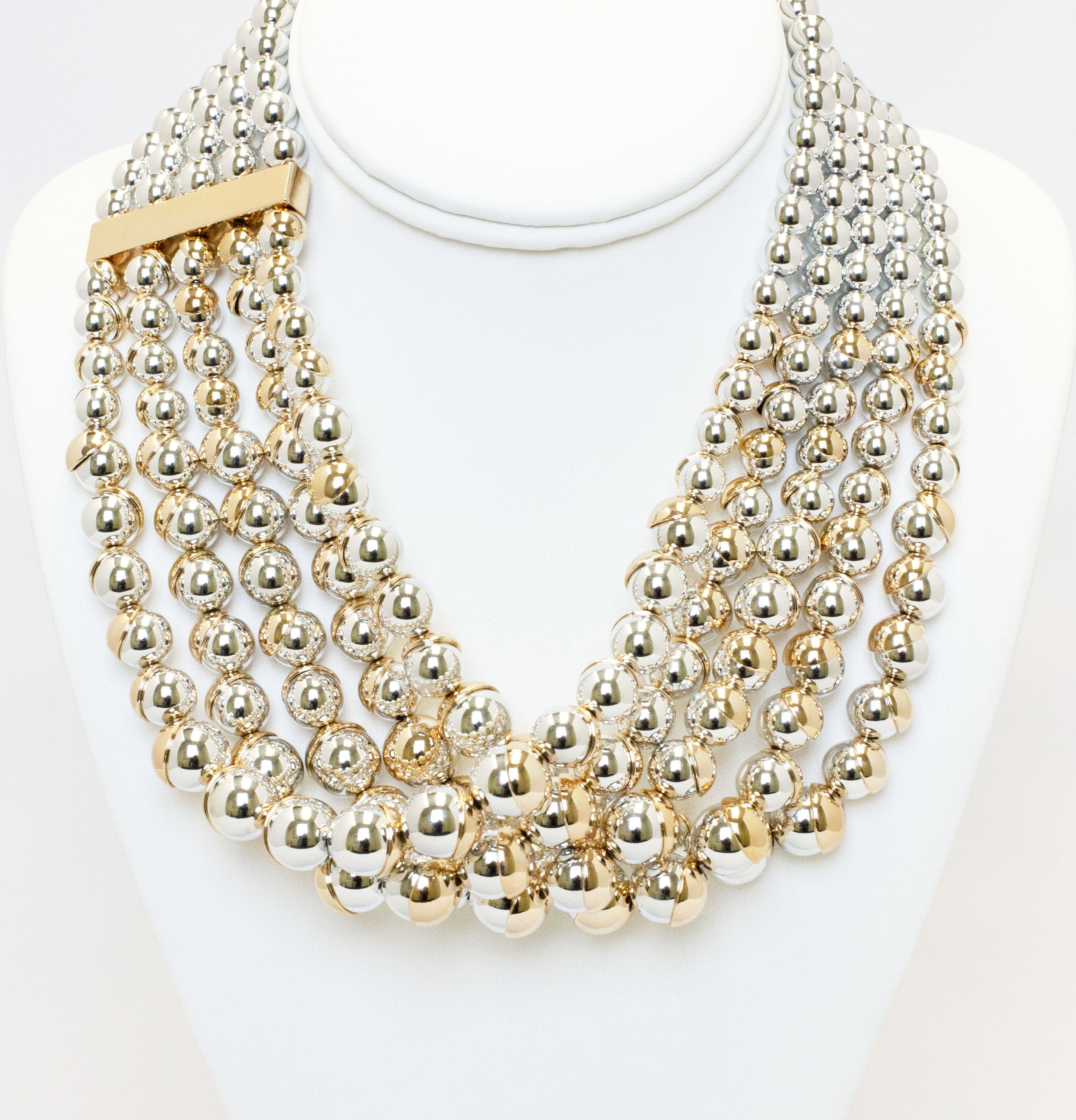 Modern Design Multi Strand Necklace