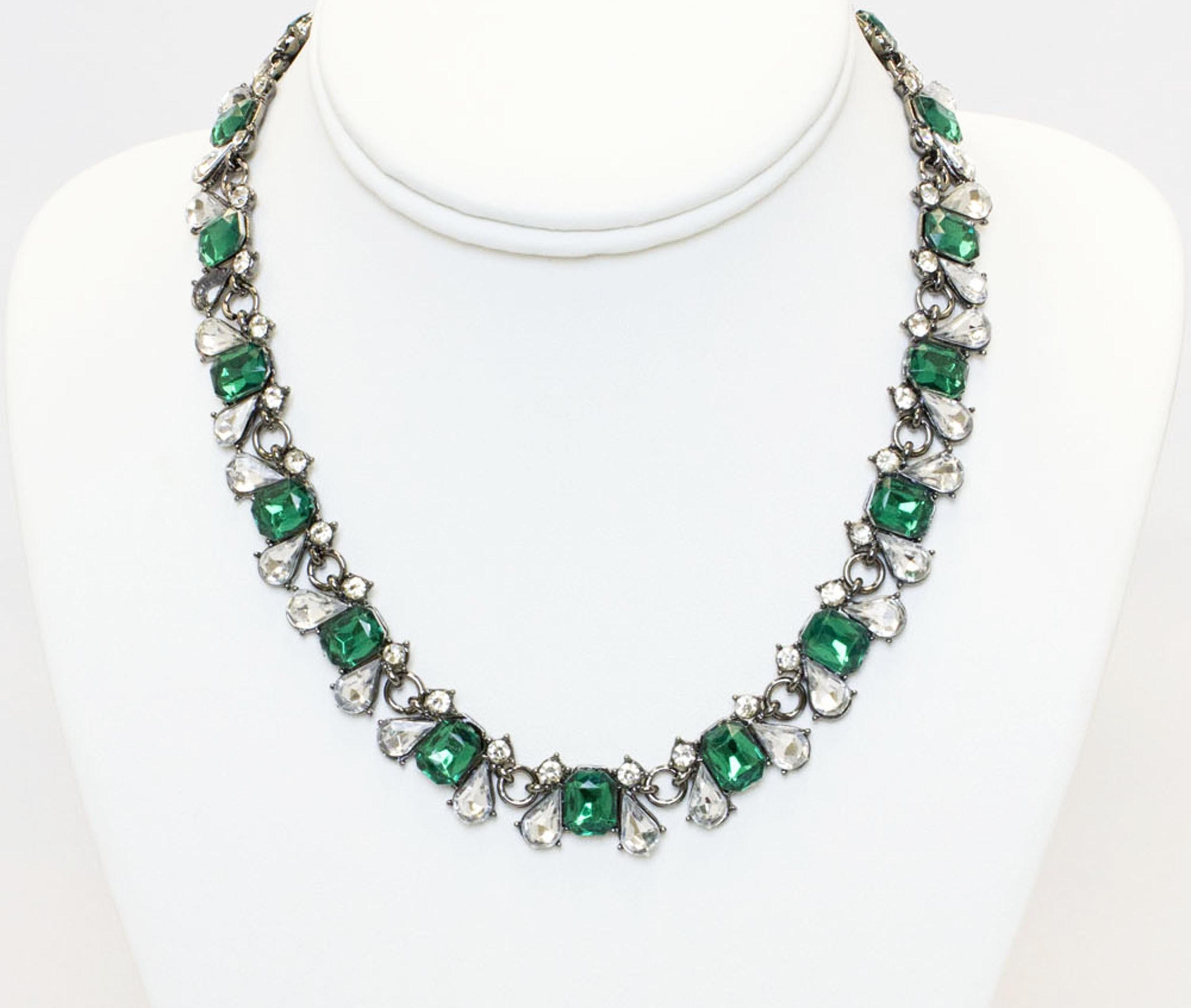 Multicolored Stones Collar Necklace