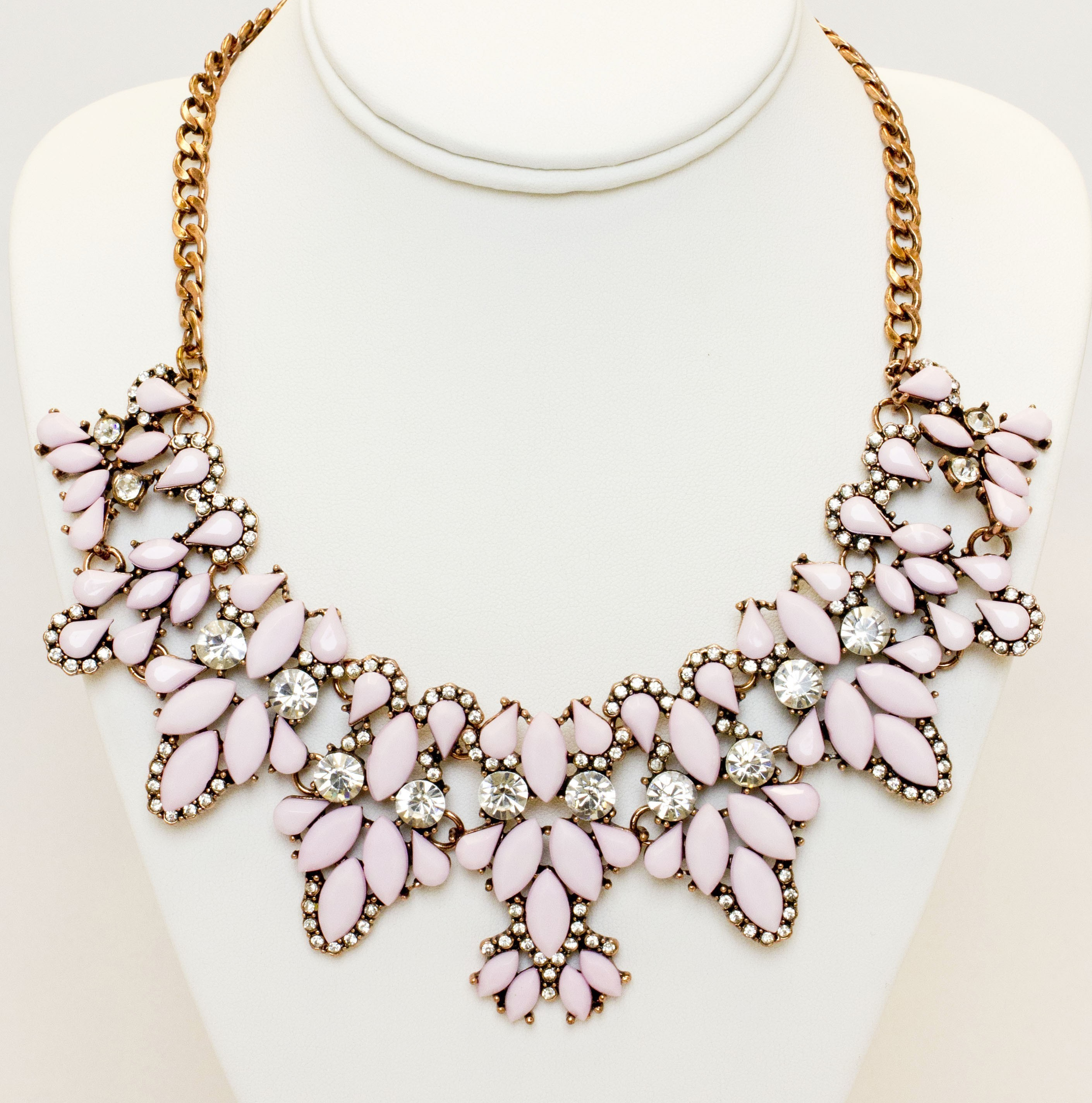 Statement Collar Necklace With Colorful Stones