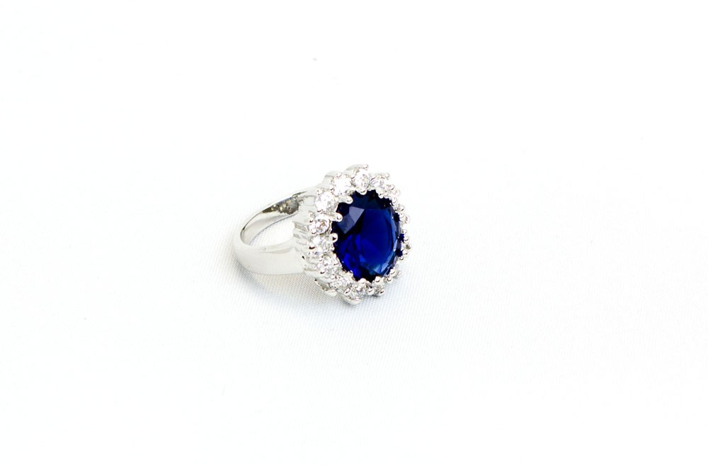 Classic Ring With Blue Stone