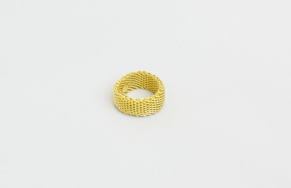 Gold Plated Mesh Ring