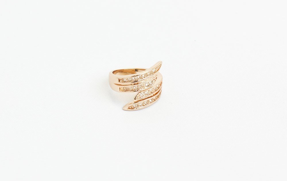 Statement Gold Ring With Stones