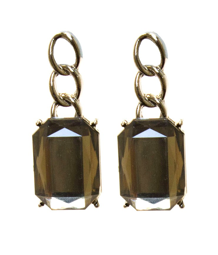 Bold And Glamorous Earrings With Sparkling Stone
