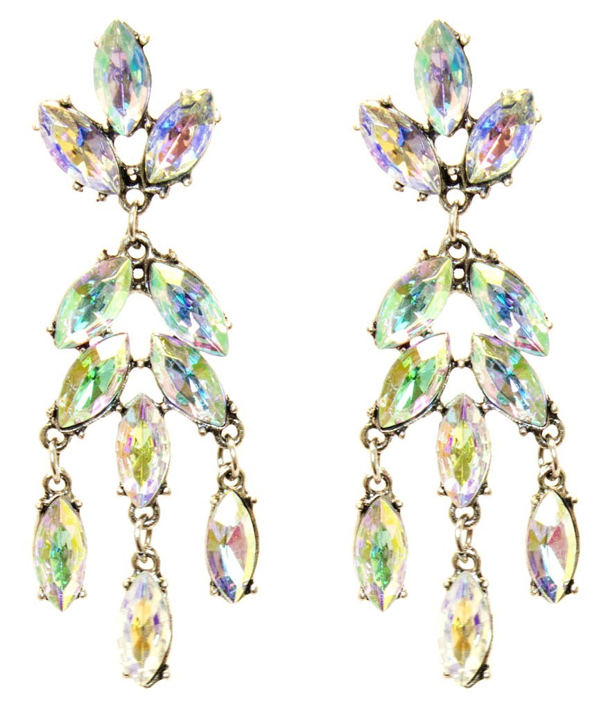 Beautiful Crystal Dangle Earrings