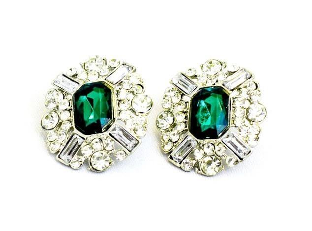 Bold Fashion Stud Earrings In Green