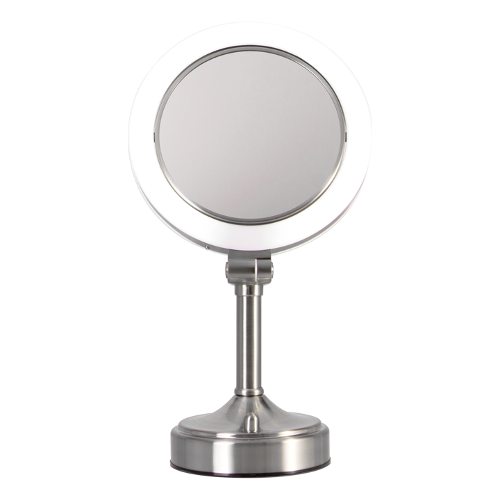 Zadro Surround Lighted Pedestal Vanity Mirror Dual-Sided 1X/10X
