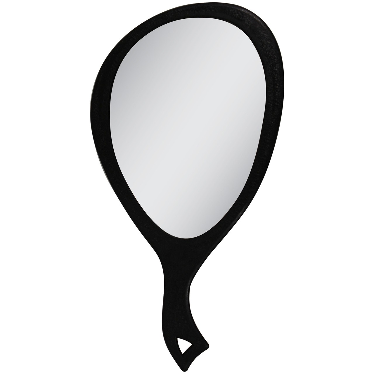 Zadro Large Teardrop Hand Held Mirror 1X - Black