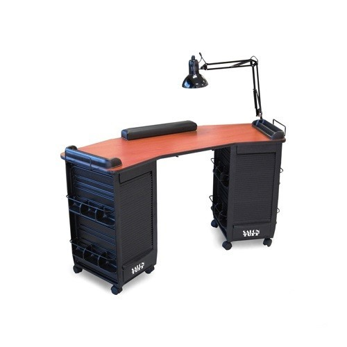Baya Double Cabinet Manicure Table