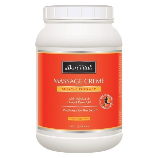 Bon Vital Muscle Therapy Massage Creme 1 Gallon Jar