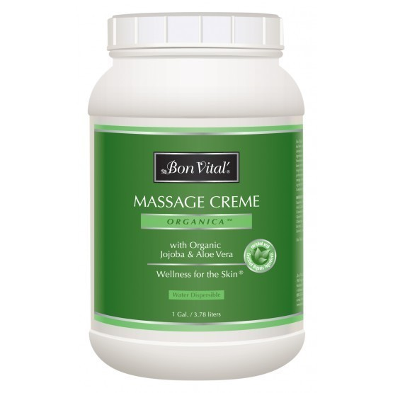 Bon Vital Organica Massage Creme 1 Gallon Jar