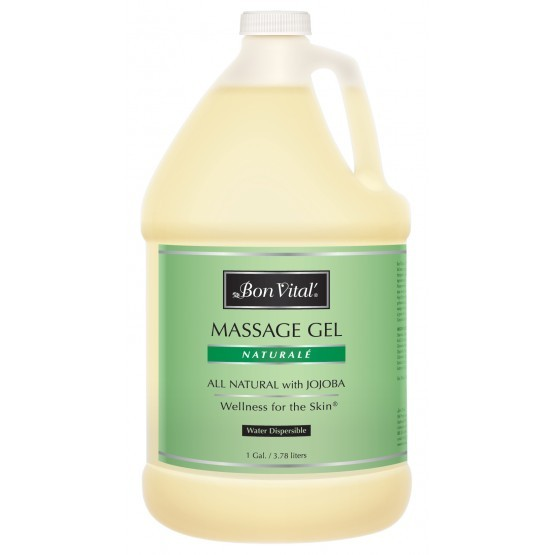 Bon Vital' Natural̩ Massage Gel 1 Gallon Bottle