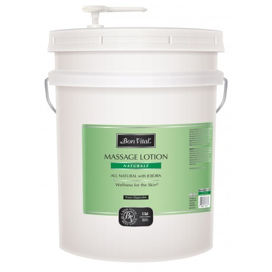 Bon Vital Natural̩ Massage Lotion 5 Gallon Pail