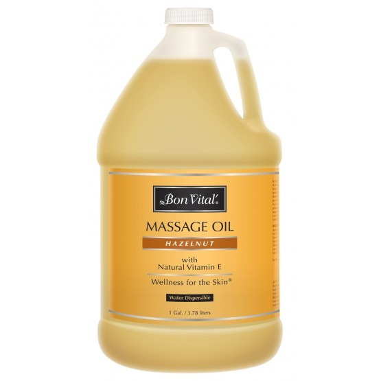 Bon Vital Hazelnut Massage Oil 1 Gallon Bottle