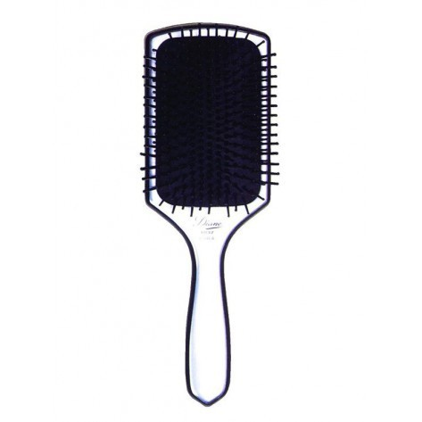 Diane Paddle 13 Row Silver Brush