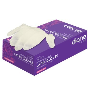 Diane Powder Free Latex Gloves 100ct