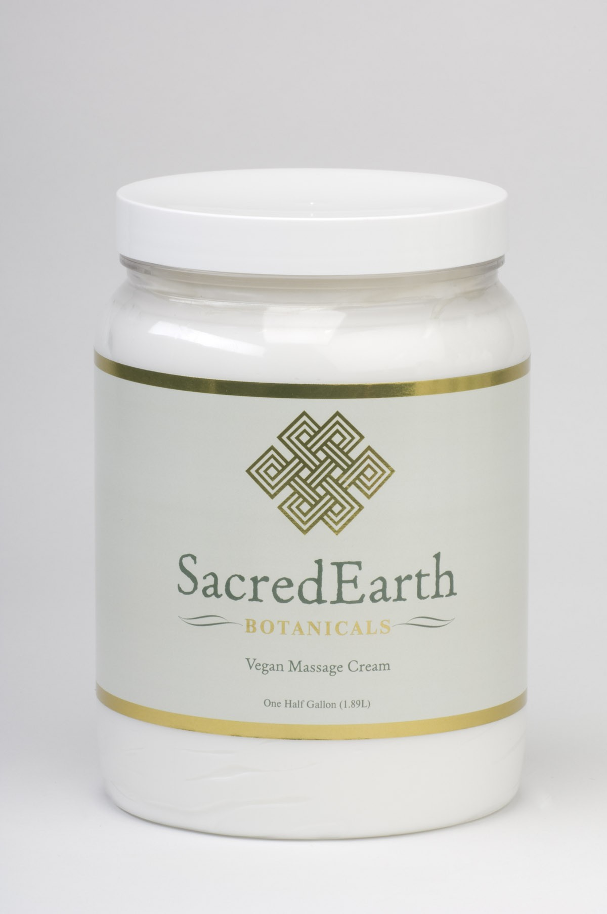 Sacred Earth Vegan Massage Cream 1/2 Gallon