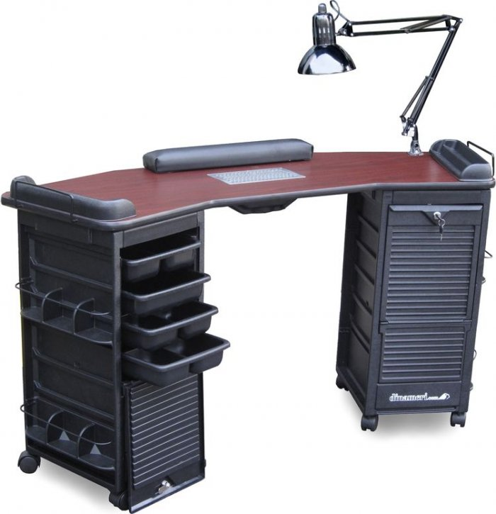 Mambo Vented Lockable Double Cabinet Nail Table