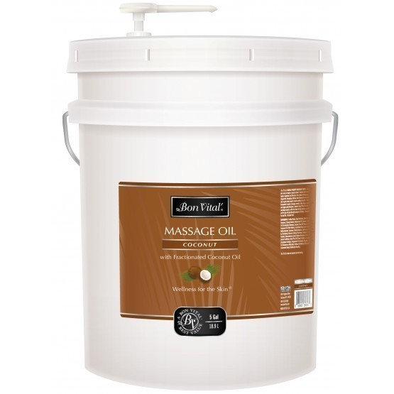 Bon Vital Coconut Massage Oil 5 Gallon Pail